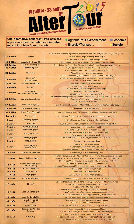 Programme AlterTour 2015