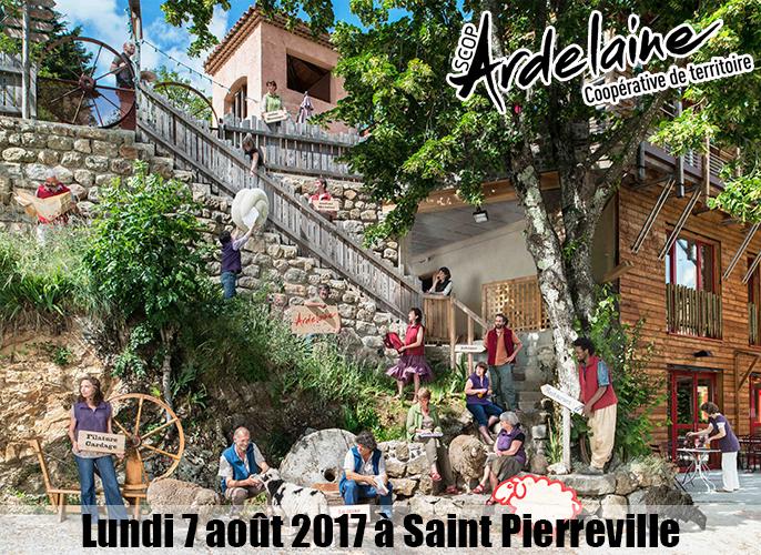 Etape de St julien du Serre à Saint Pierreville